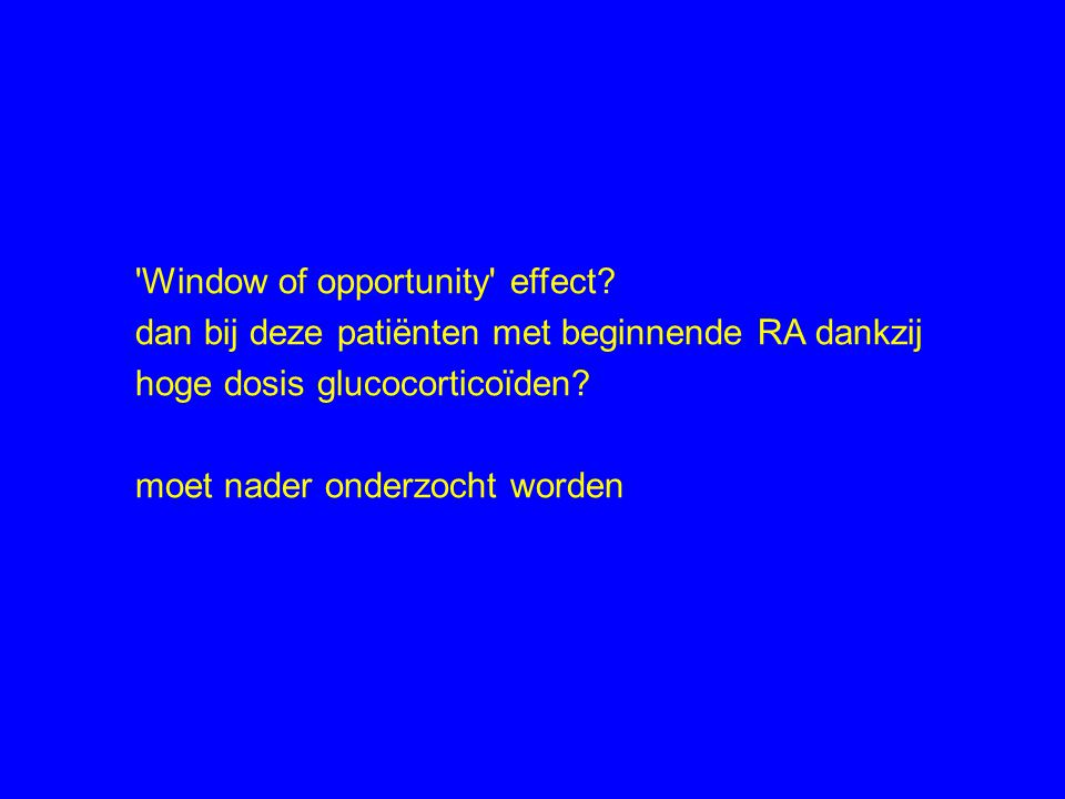Window of opportunity effect.