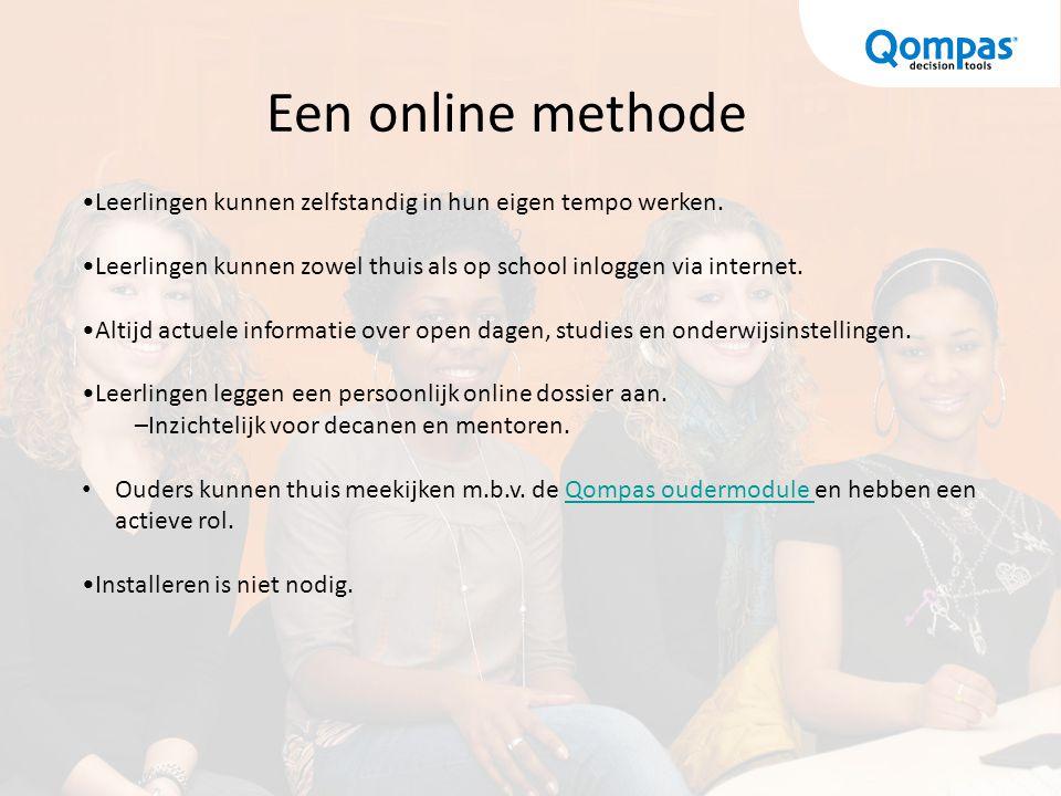 Het materiaal De site http://studiekeuze.qompas.nl EntryCard LOB Editie: Geeft toegang tot alle tests, opdrachten en het persoonlijk dossier.