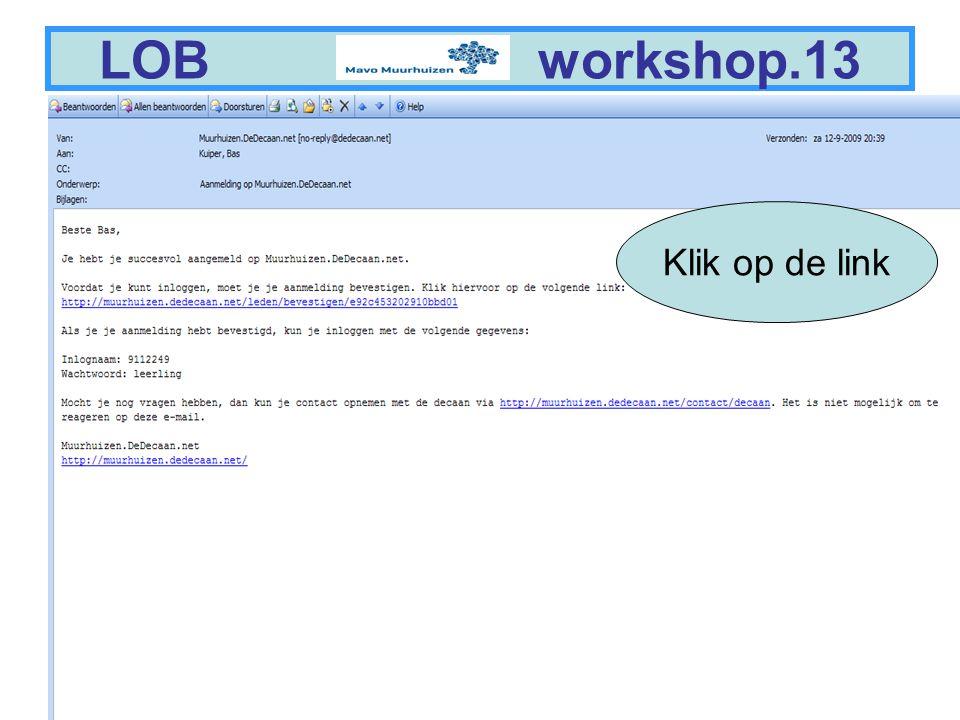 9 LOB workshop.14 Log in als leerling