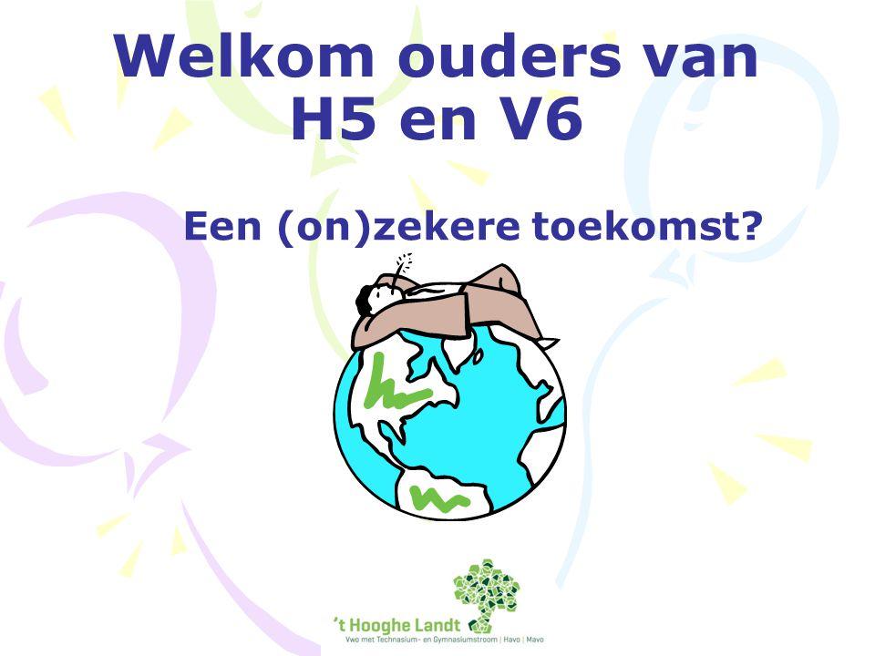 Welkom ouders van H5 en V6 Een (on)zekere toekomst