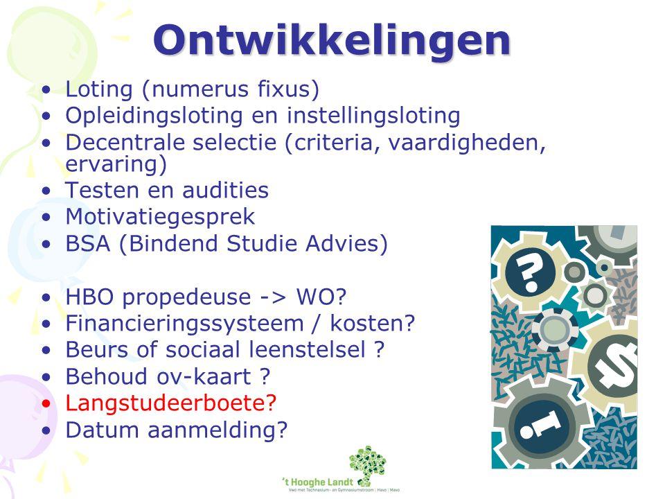 Tot slot Websites: www.duo.nl www.studielink.nl www.studiekeuze123.nl www.HBOstart.nl www.Universiteitstart.nl www.tkmst.nl www.wilweg.nl (buitenland)www.wilweg.nl http://hooghelandtph.dedecaan.net Vragen.