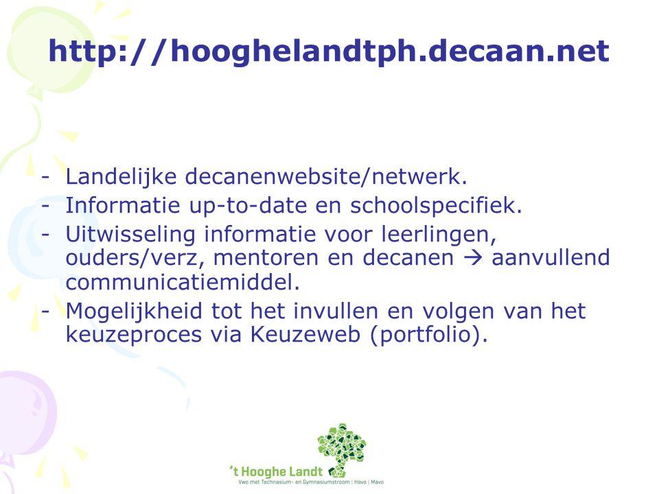 http://hooghelandtph.decaan.net -Landelijke decanenwebsite/netwerk.