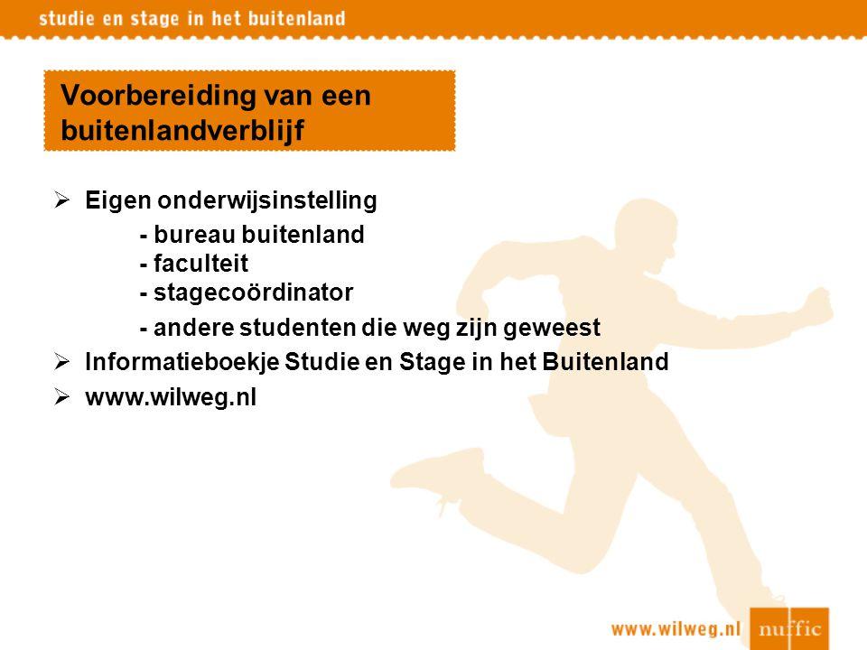 NESO: Netherlands Education Support Office Informatie over studie en stage:  In China, Indonesië,Taiwan, Vietnam en Mexico  In de loop van 2008: Rusland en Thailand