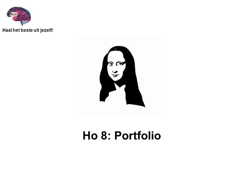 Haal het beste uit jezelf! Overzicht portfolio