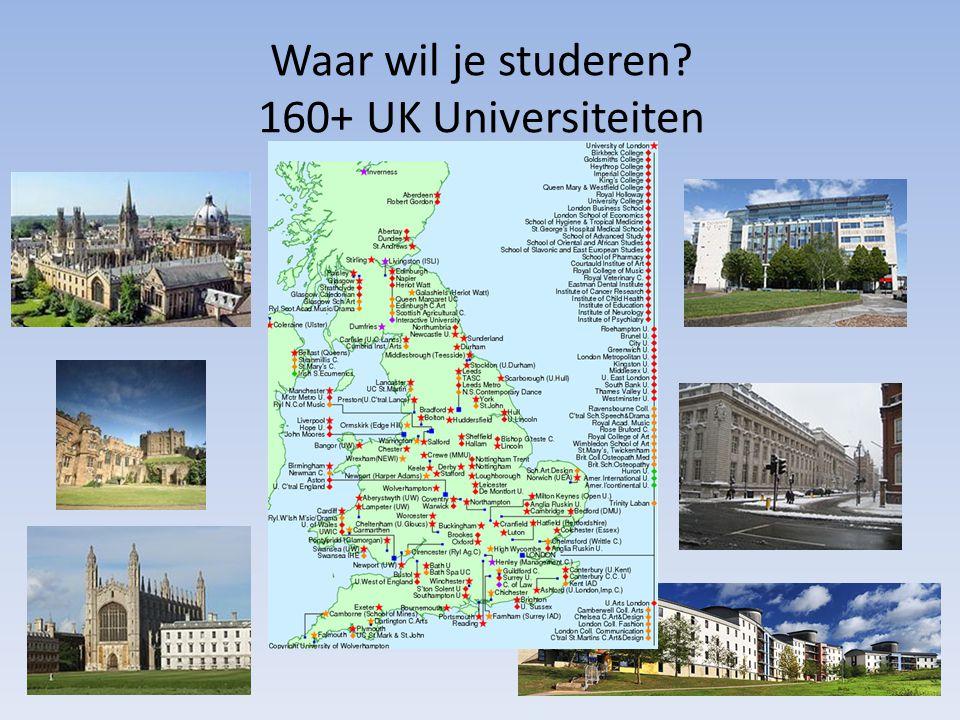 Waar wil je studeren.