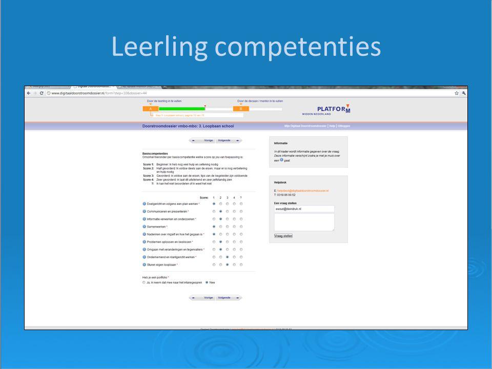 Leerling competenties