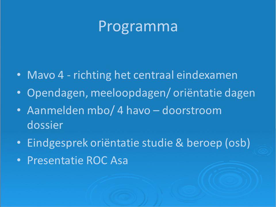 Eindexamen 2012 Voorbereiding laatste fase Presentatie sectorwerkstukken Schoolexamen 2 Examentraining