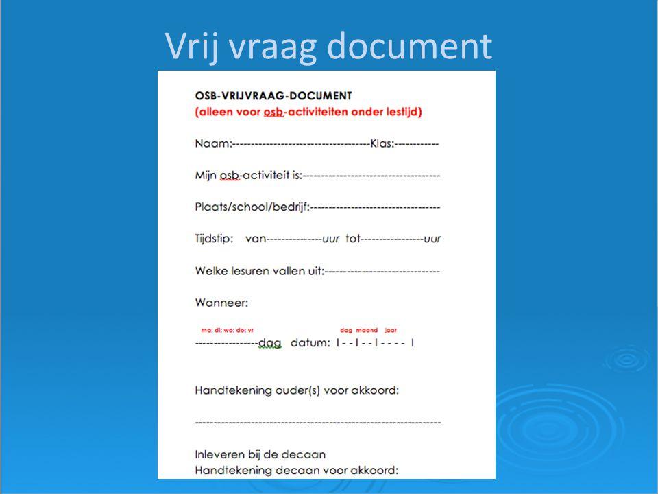 Vrij vraag document