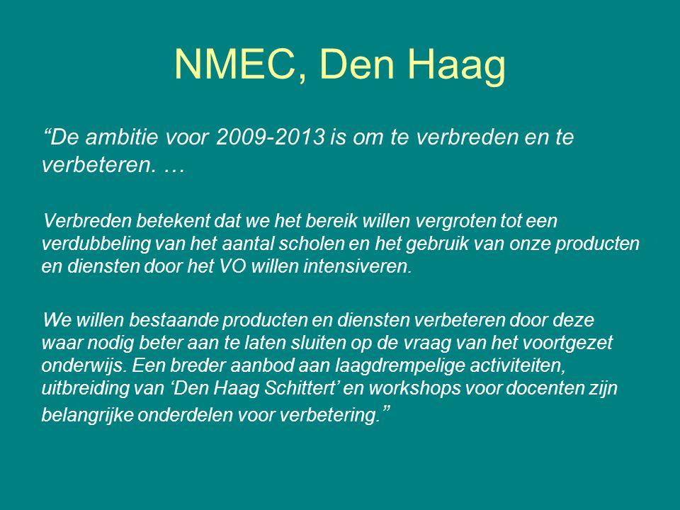 NMEC, Den Haag De ambitie voor 2009-2013 is om te verbreden en te verbeteren.