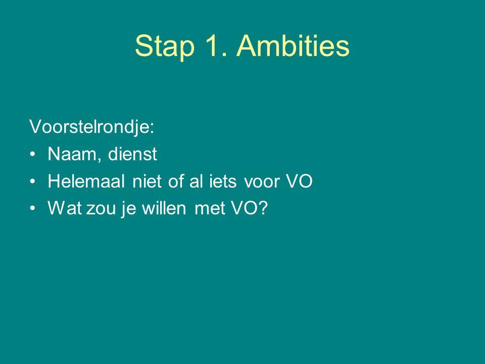 Stap 1.