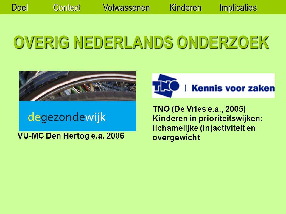 OVERIG NEDERLANDS ONDERZOEK VU-MC Den Hertog e.a.