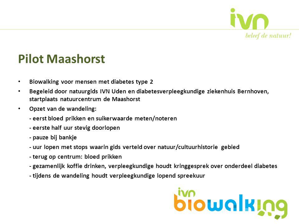 Biowalking voor mensen met diabetes type 2 Begeleid door natuurgids IVN Uden en diabetesverpleegkundige ziekenhuis Bernhoven, startplaats natuurcentru