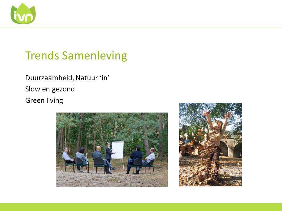 Trends Samenleving Duurzaamheid, Natuur 'in' Slow en gezond Green living