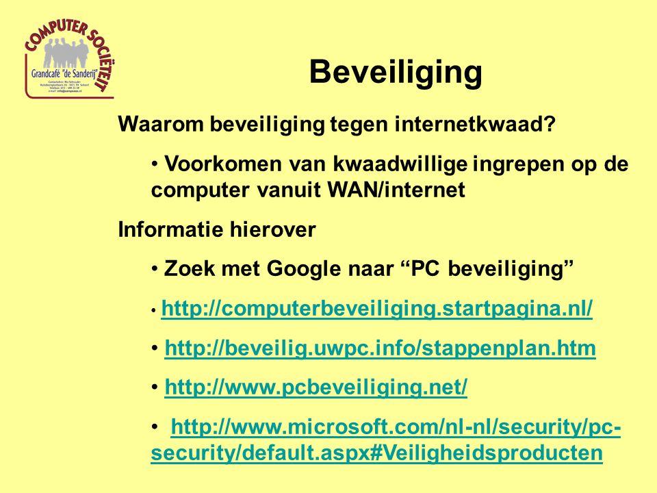 Beveiliging Waarom beveiliging tegen internetkwaad.