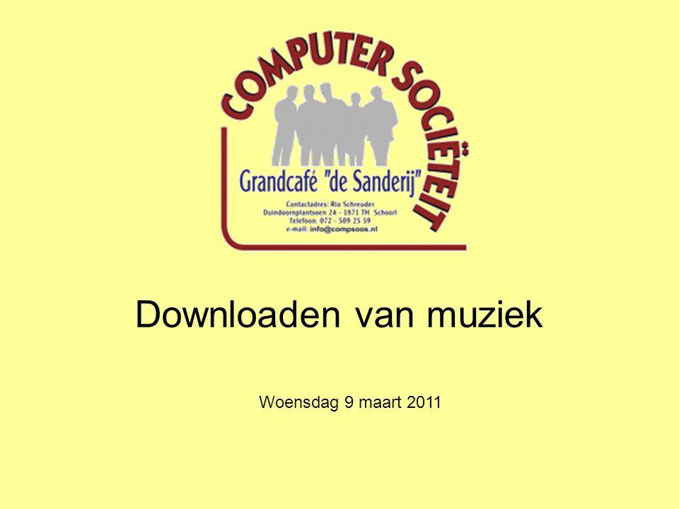 Downloaden van muziek Woensdag 9 maart 2011