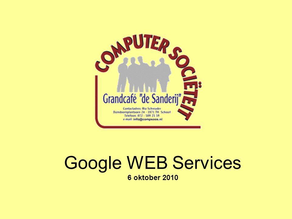 Google WEB Services 6 oktober 2010