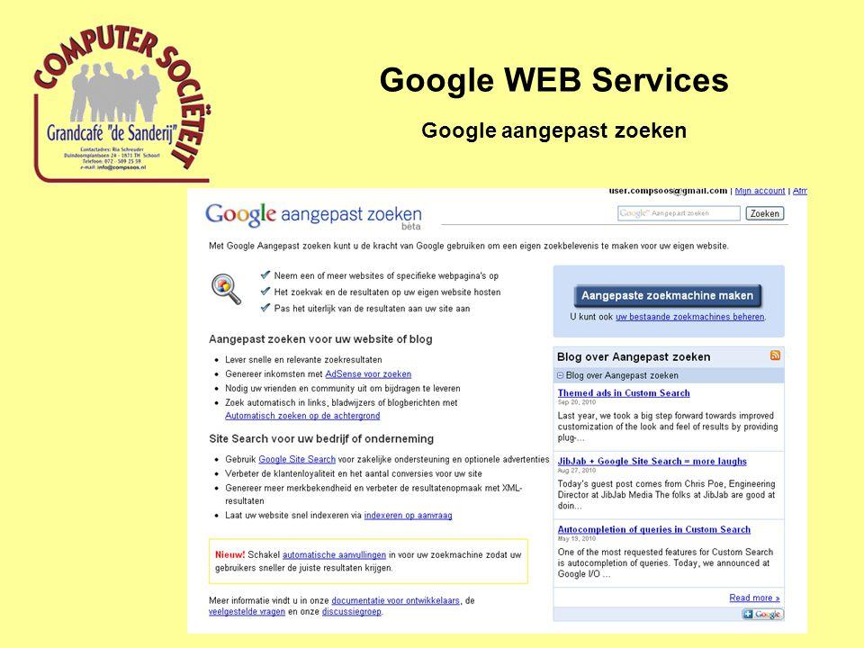 Google WEB Services Google aangepast zoeken