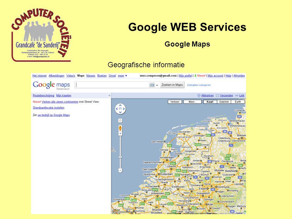 Google WEB Services Google Maps Geografische informatie