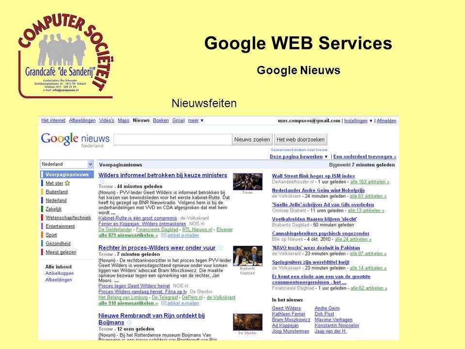 Google WEB Services Google Nieuws Nieuwsfeiten