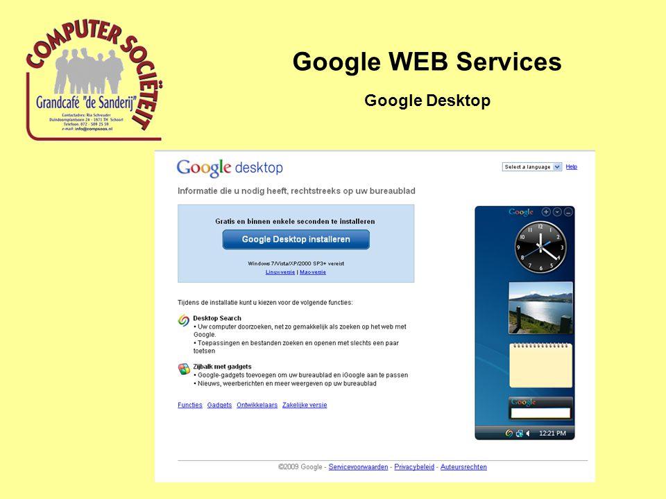 Google WEB Services Google Desktop