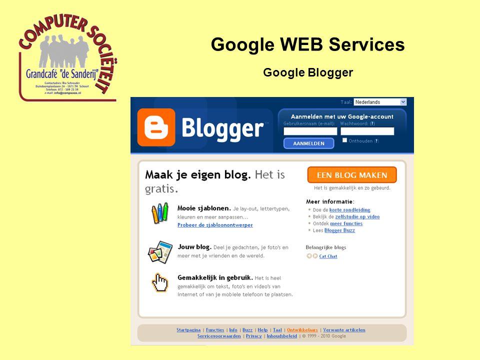 Google WEB Services Google Blogger