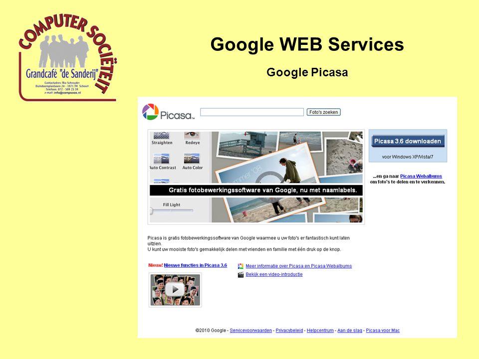 Google WEB Services Google Picasa