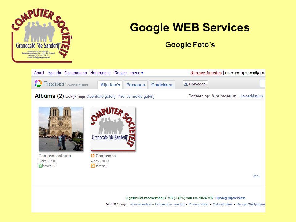 Google WEB Services Google Foto's