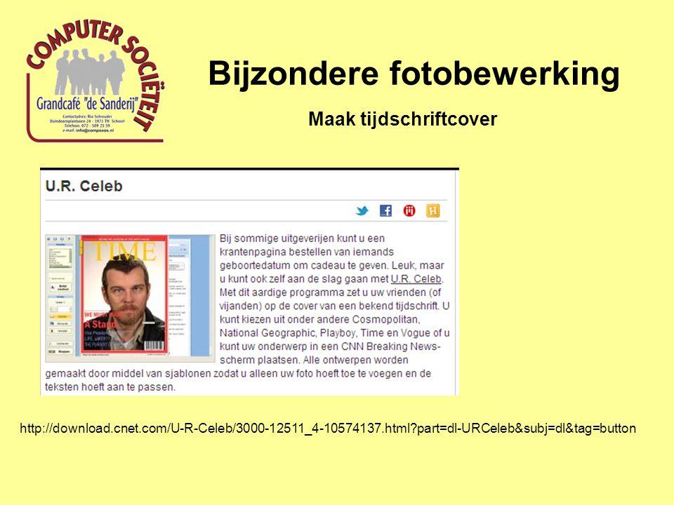 Bijzondere fotobewerking Maak tijdschriftcover http://download.cnet.com/U-R-Celeb/3000-12511_4-10574137.html?part=dl-URCeleb&subj=dl&tag=button