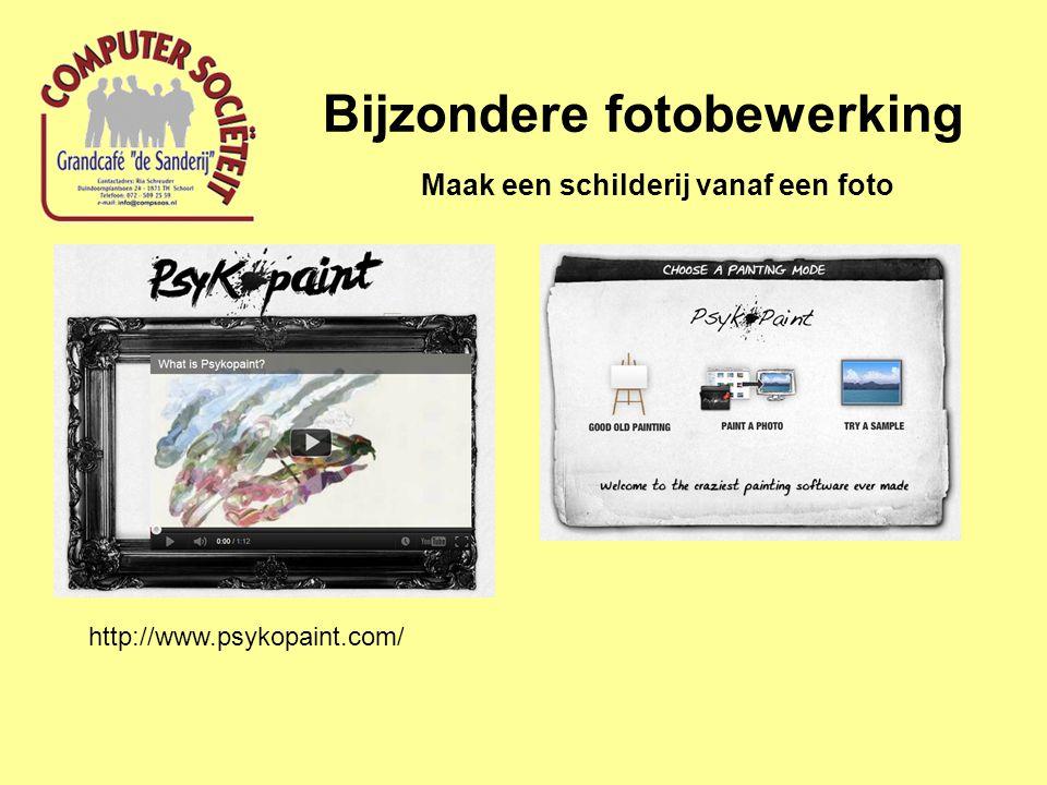 Bijzondere fotobewerking Maak een schilderij vanaf een foto http://www.psykopaint.com/