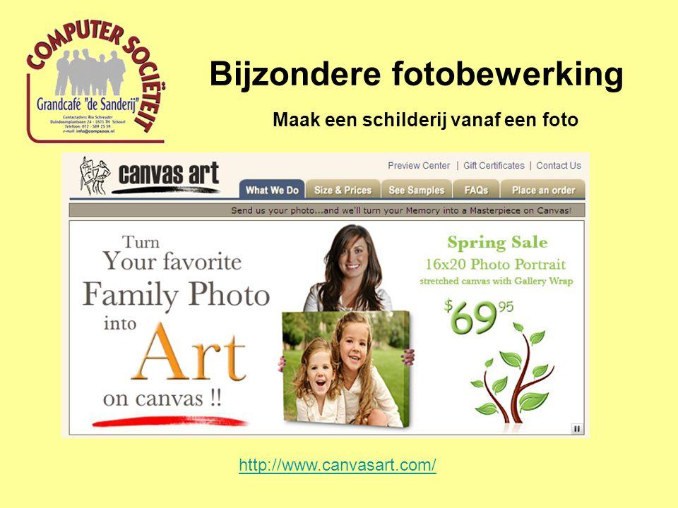 Bijzondere fotobewerking Maak een schilderij vanaf een foto http://www.canvasart.com/