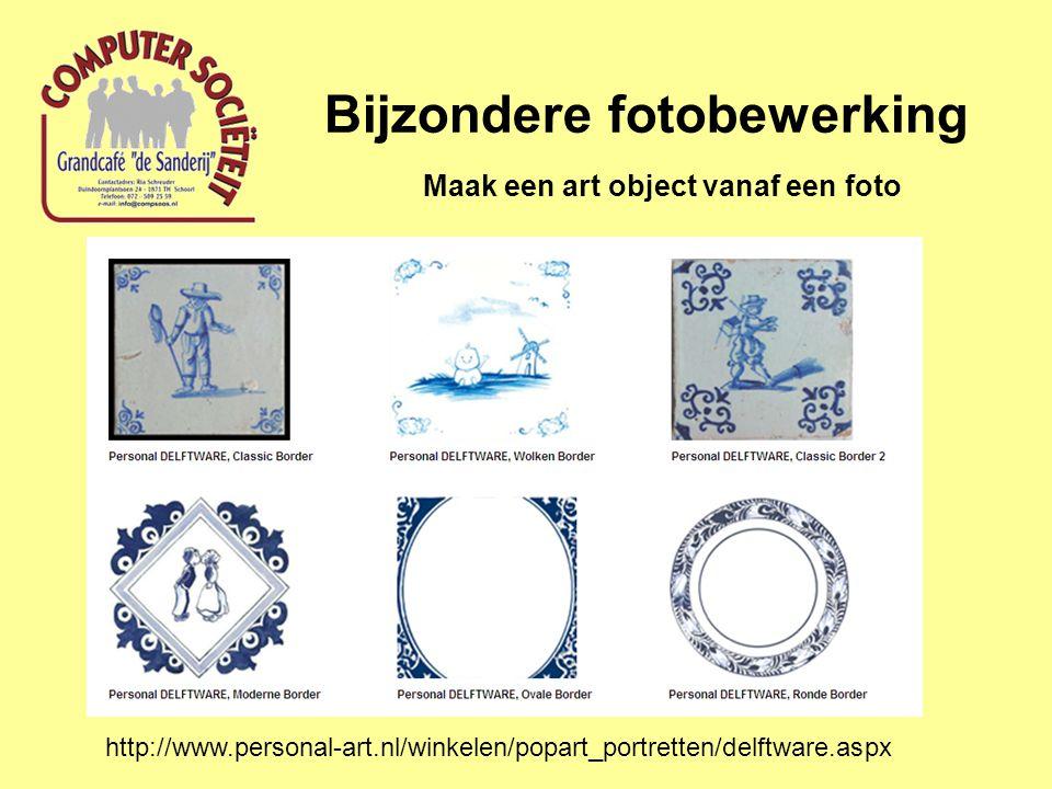 Bijzondere fotobewerking Maak een art object vanaf een foto http://www.personal-art.nl/winkelen/popart_portretten/delftware.aspx