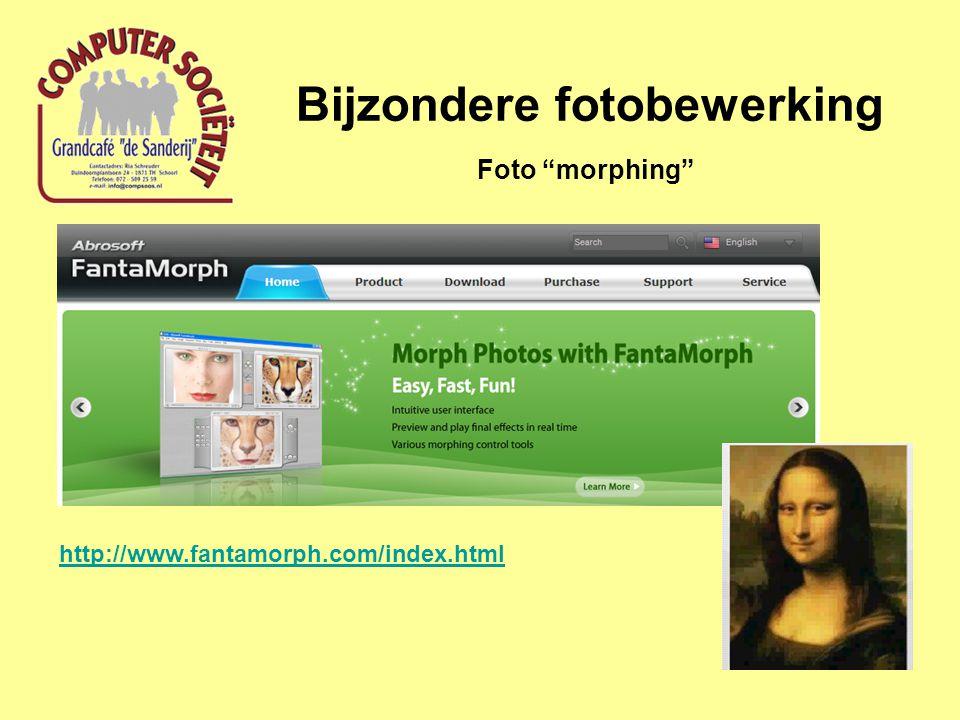 """Bijzondere fotobewerking Foto """"morphing"""" http://www.fantamorph.com/index.html"""