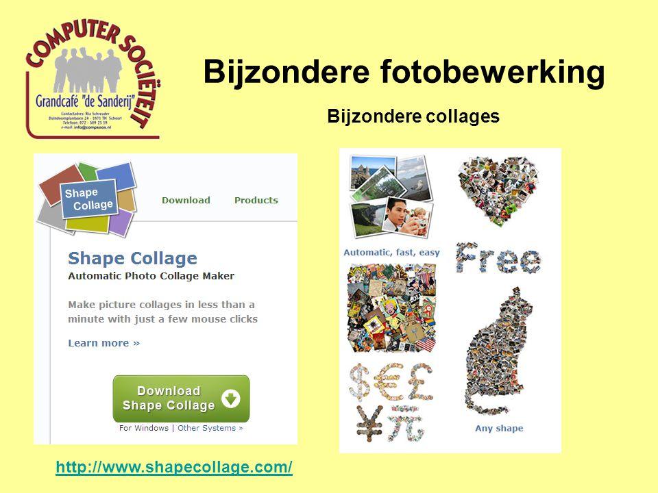 Bijzondere fotobewerking Bijzondere collages http://www.shapecollage.com/