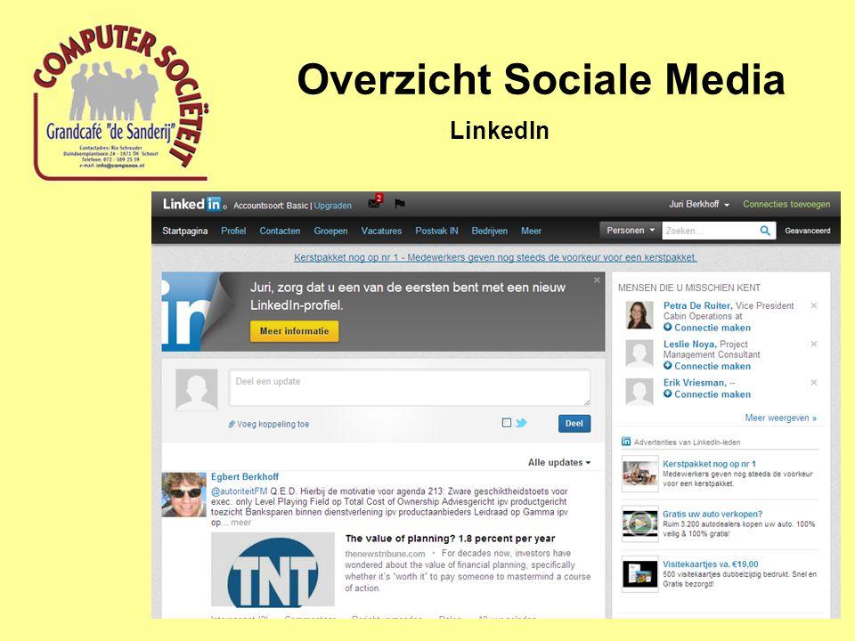 Overzicht Sociale Media LinkedIn