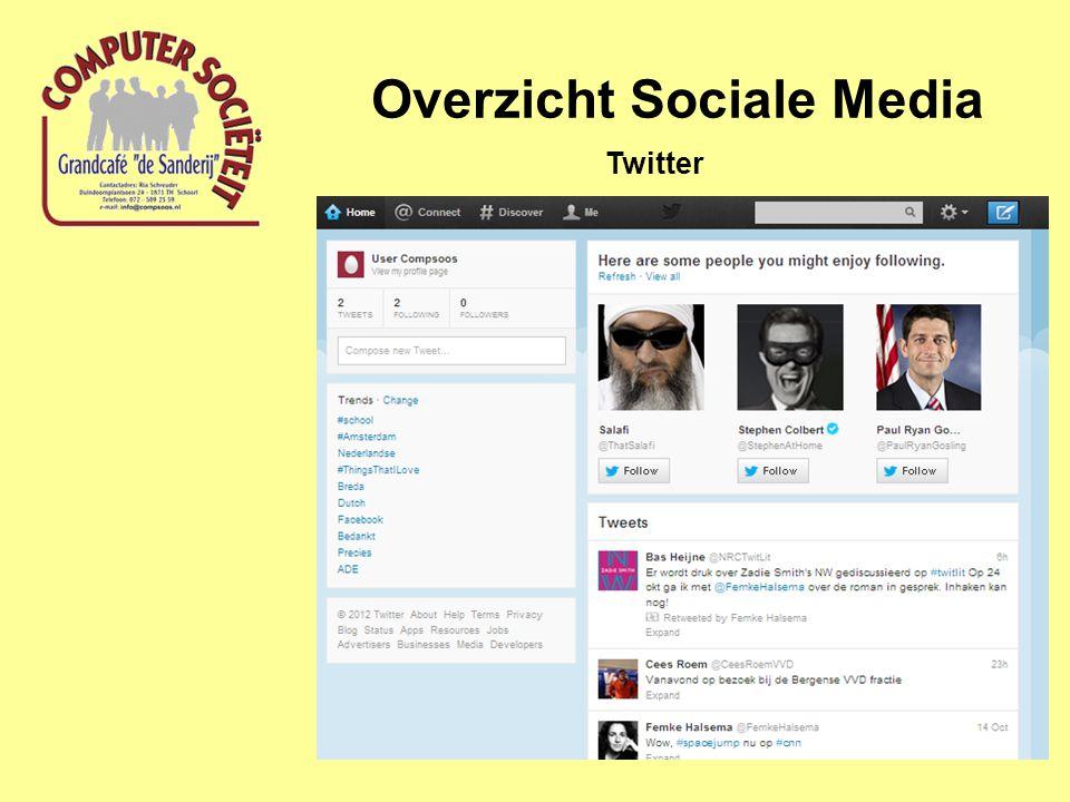 Overzicht Sociale Media Twitter