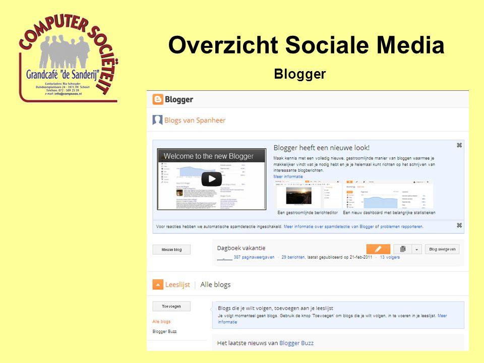 Overzicht Sociale Media Blogger