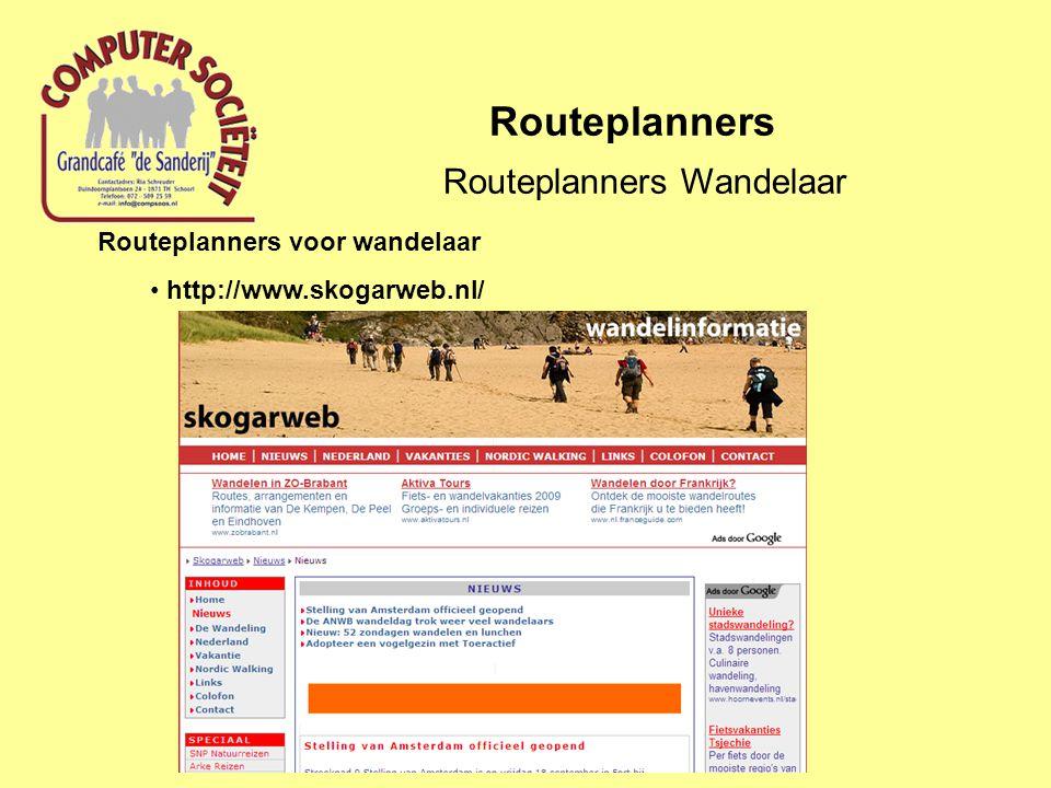 Routeplanners Routeplanners Wandelaar Routeplanners voor wandelaar http://www.skogarweb.nl/