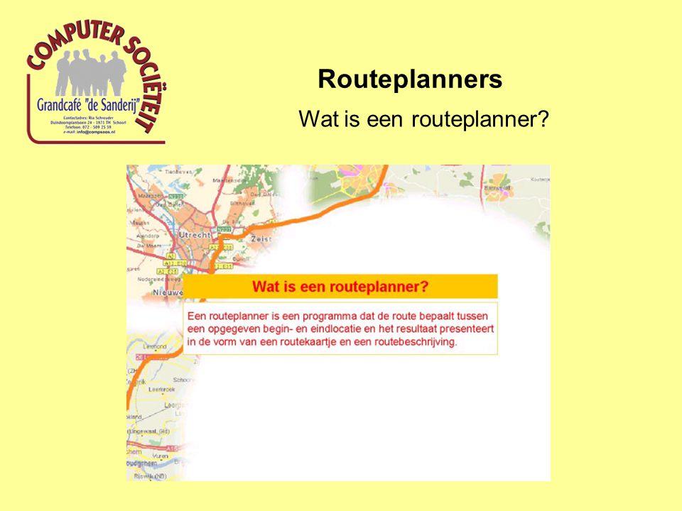 Wat is een routeplanner?