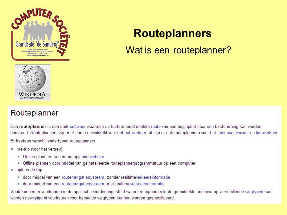 Routeplanners Routeplanner met navigatie Wat is GPS.