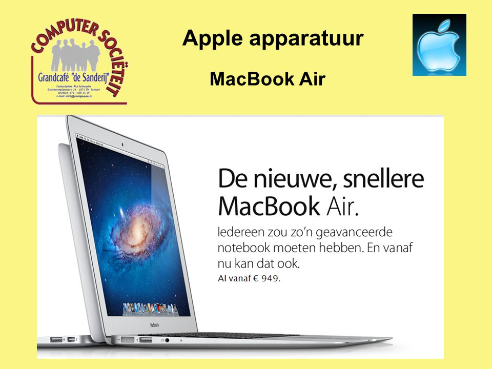 MacBook Air Apple apparatuur