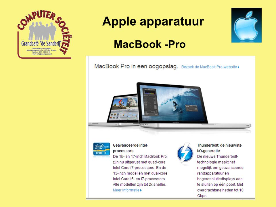 MacBook -Pro Apple apparatuur