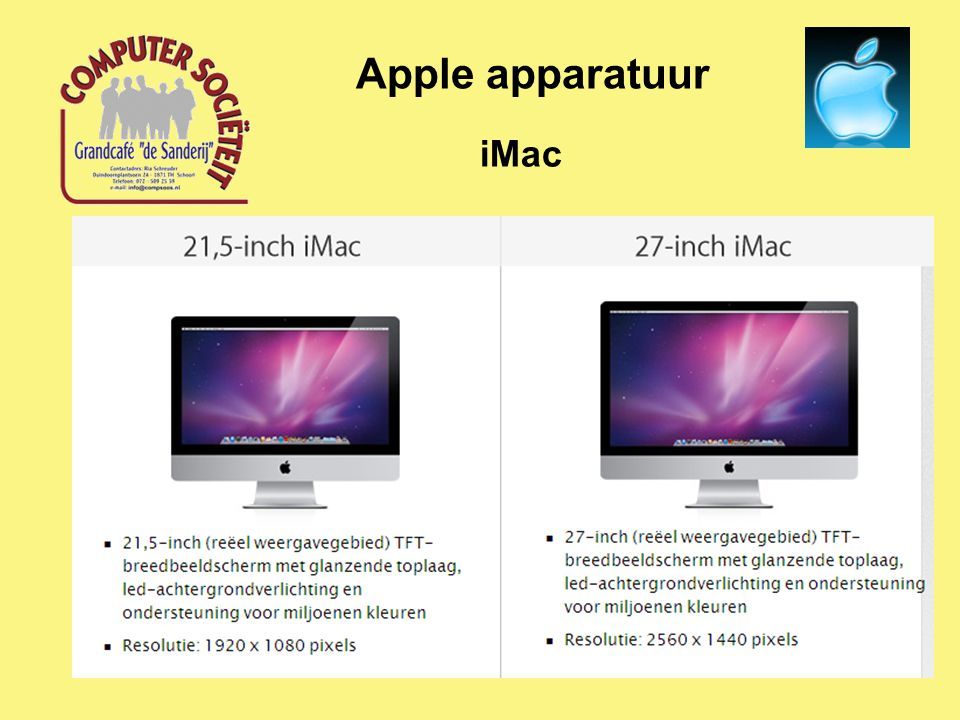 iMac Apple apparatuur