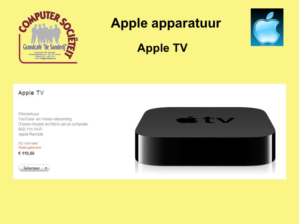 Apple TV Apple apparatuur