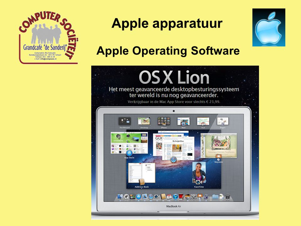 Apple Operating Software Apple apparatuur