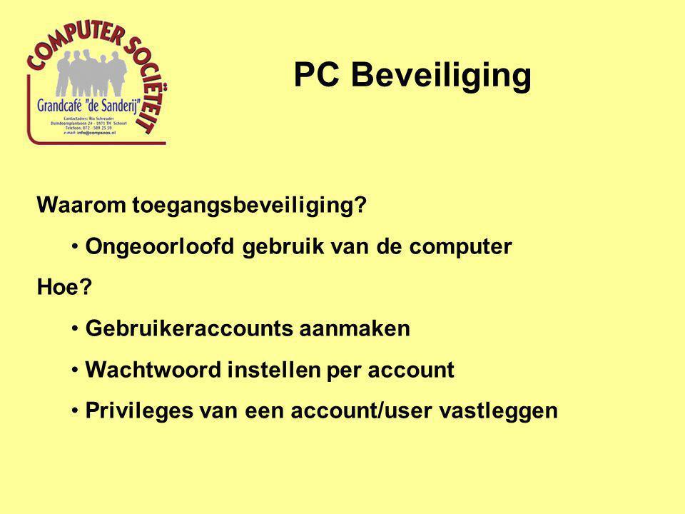 PC Beveiliging Waarom toegangsbeveiliging. Ongeoorloofd gebruik van de computer Hoe.