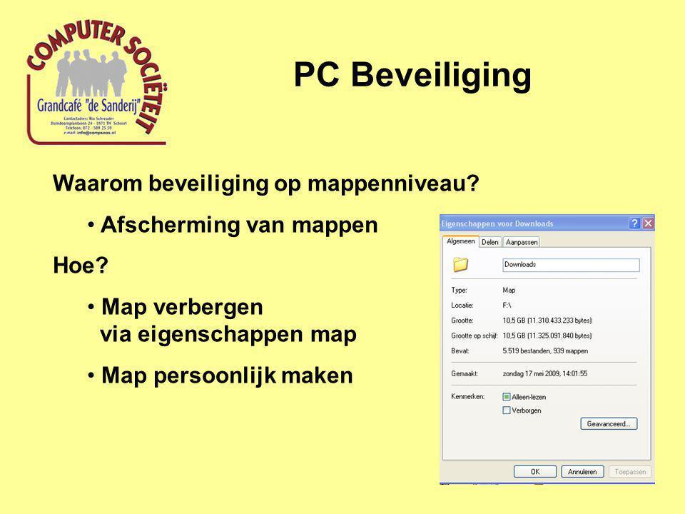 PC Beveiliging Waarom beveiliging op mappenniveau.