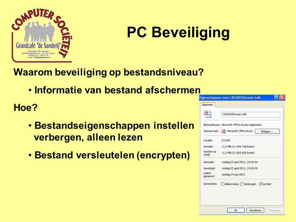 PC Beveiliging Waarom beveiliging op bestandsniveau.