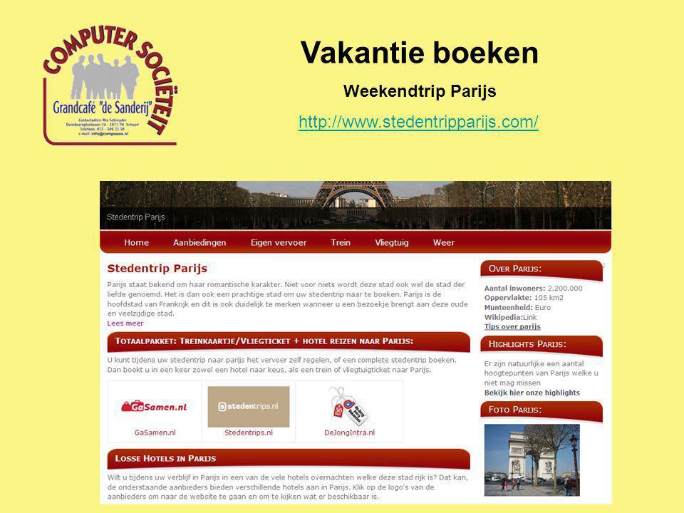 Vakantie boeken Weekendtrip Parijs http://www.stedentripparijs.com/