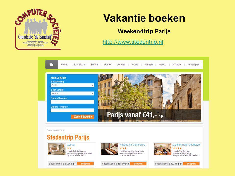 Vakantie boeken Weekendtrip Parijs http://www.stedentrip,nl