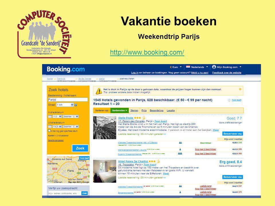 Vakantie boeken Weekendtrip Parijs http://www.booking.com/